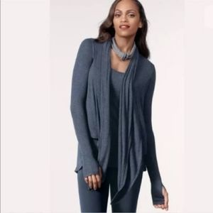 CAbi Cardigan Dreamy Draper Sweater Waterfall Blue